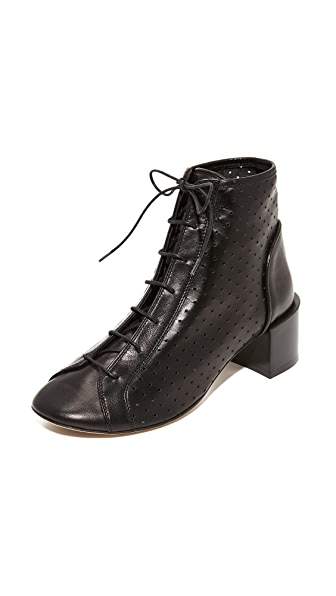 Acne Studios Mable Mesh Lace Up Booties