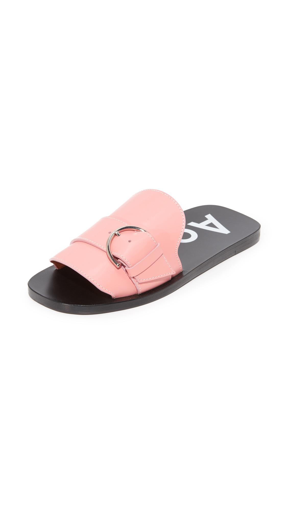Acne Studios Virgie Slides - Pink/Off White at Shopbop