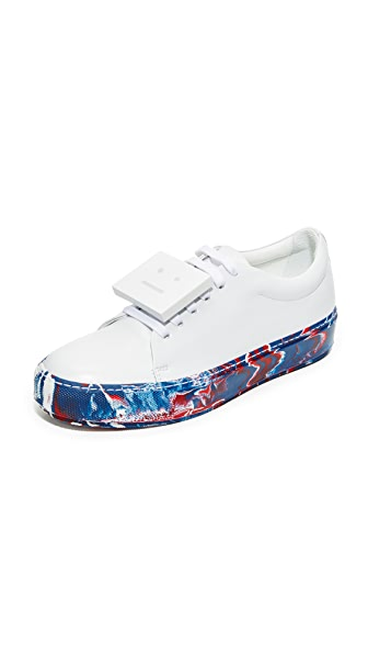 Acne Studios Adriana Oil Sneakers - White