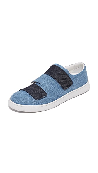 Acne Studios Triple Denim Sneakers - Denim Blue Combo