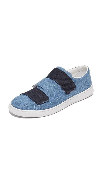 Acne Studios Triple Denim Sneakers - Denim Blue Combo