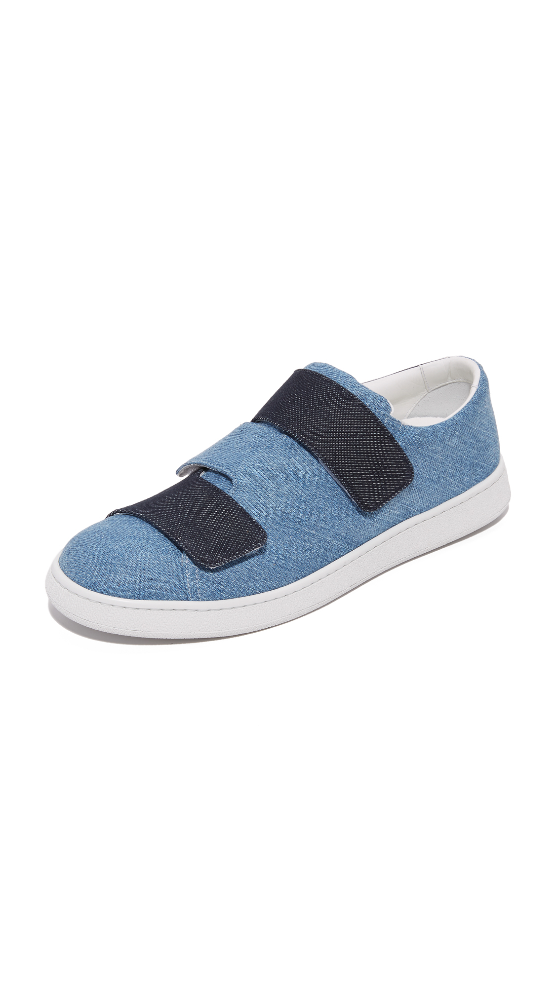 Acne Studios Triple Denim Sneakers - Denim Blue Combo at Shopbop