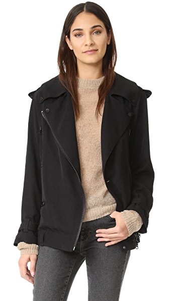 Acne Studios Lilja Moto Trench Jacket - Black
