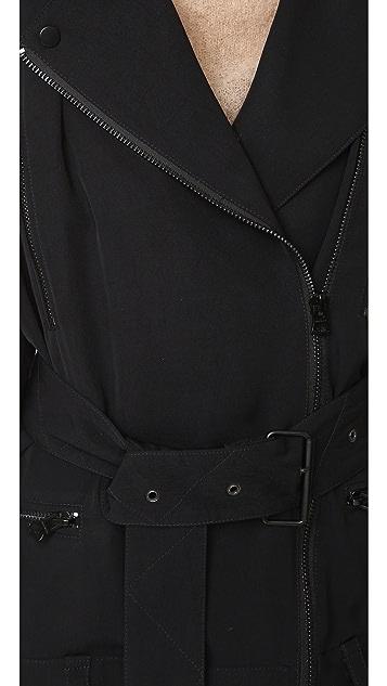 Acne Studios Lilja Moto Trench Jacket