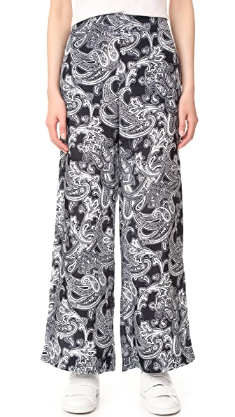 Acne Studios Tennessee Print Trousers - Degrade Paisley Navy