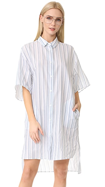 Acne Studios Debrah Striped Shirtdress - Blue Stripe