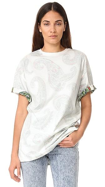 Acne Studios Объемная футболка Olga с принтом «павлиний глаз»