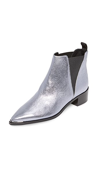 Acne Studios Jensen Space Booties - Lavender Grey