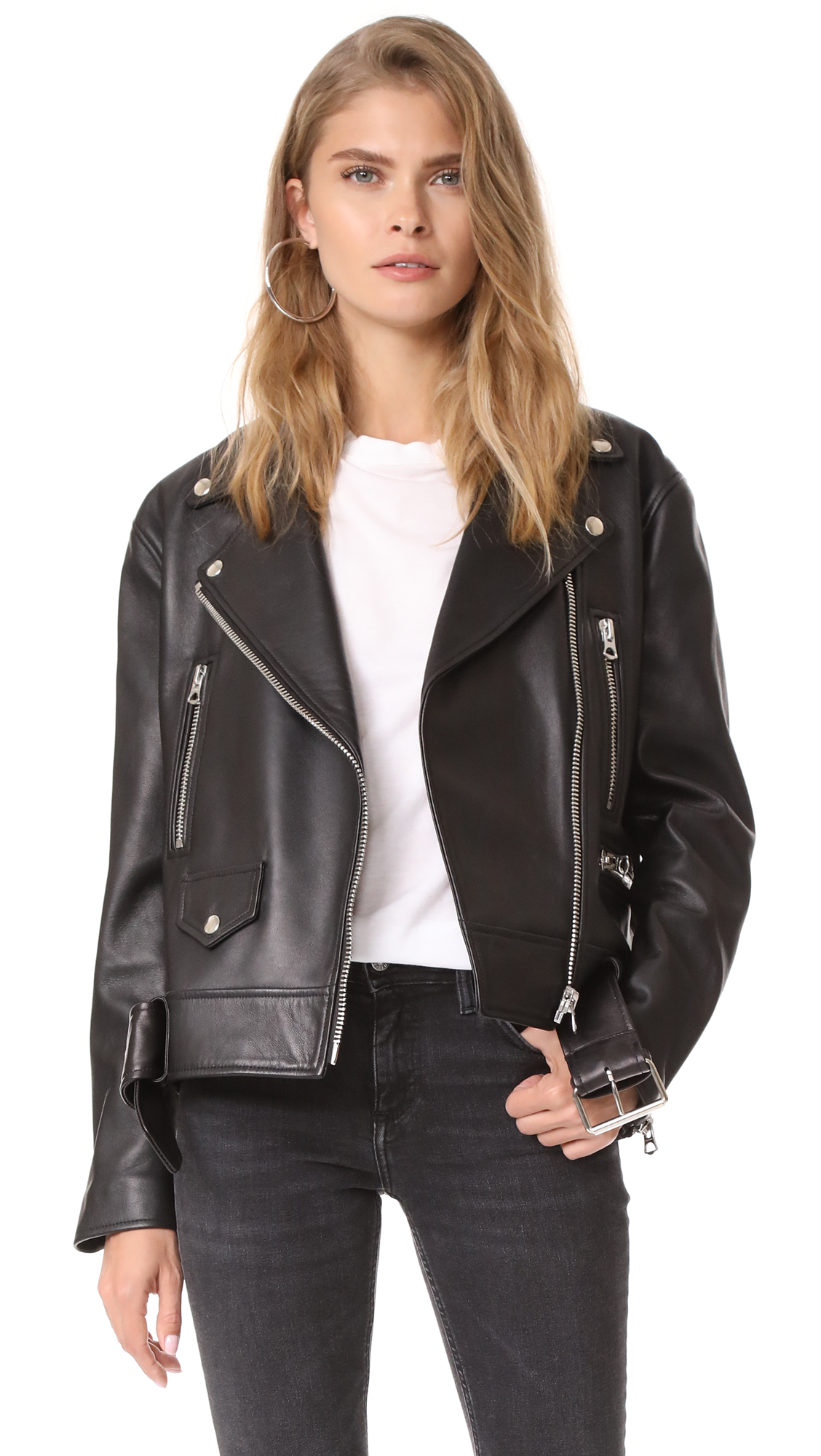 Acne Studios Merlyn Leather Jacket - Black