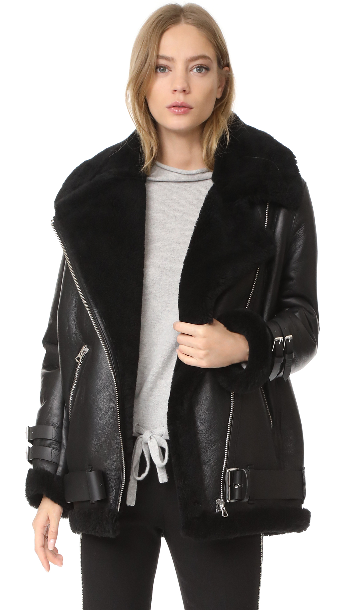Buy Acne Studios Velocite Shearling Moto Jacket online beautiful Acne Studios Jackets, Coats, Down Jackets