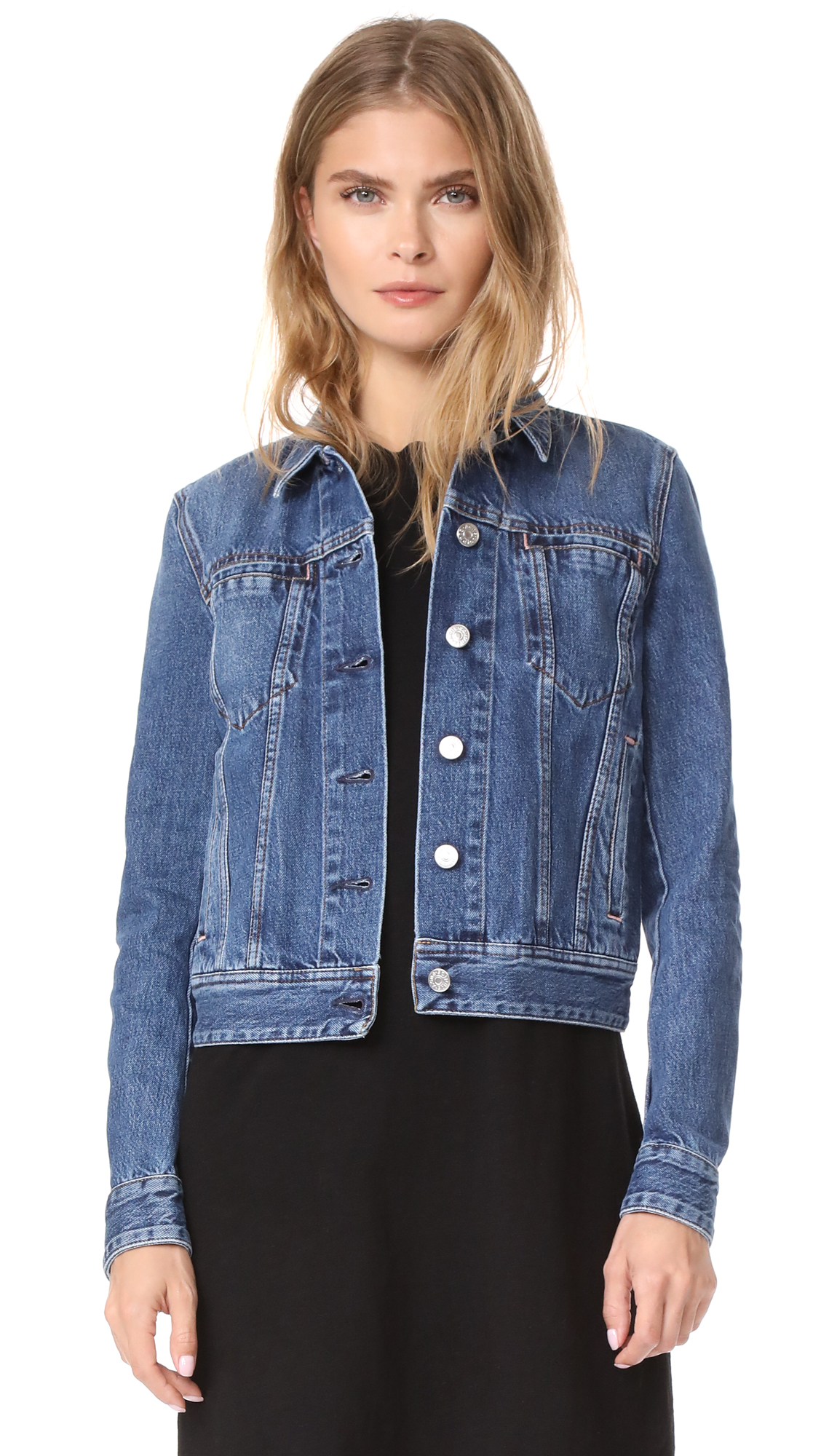 Acne Studios Cliff Jean Jacket - Mid Blue