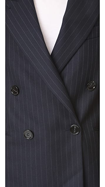 Acne Studios Jara Pinstripe Double Breasted Blazer