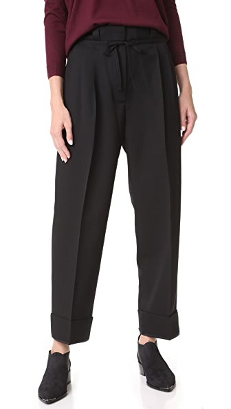 Acne Studios Tien Structured Wool Pants In Black