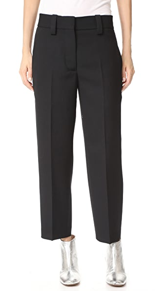 Acne Studios Trea Structured Wool Pants In Black