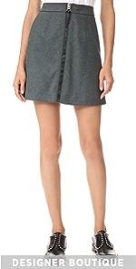 Suraya Flannel Skirt Acne Studios