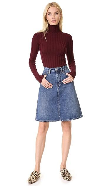 Acne Studios Shadow Denim Skirt