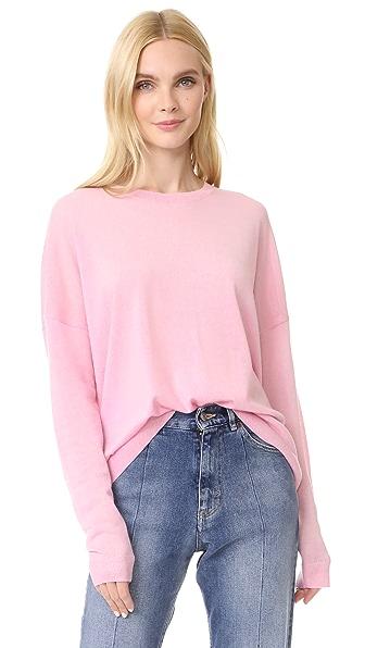 Acne Studios Karel Merino Pullover In Pink