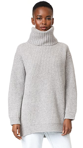 Acne Studios Disa L Turtleneck Sweater - Pale Grey Melange