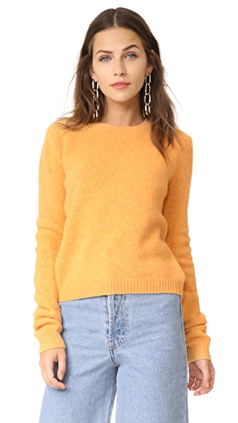 Acne Studios Siw Wool Pullover In Yellow