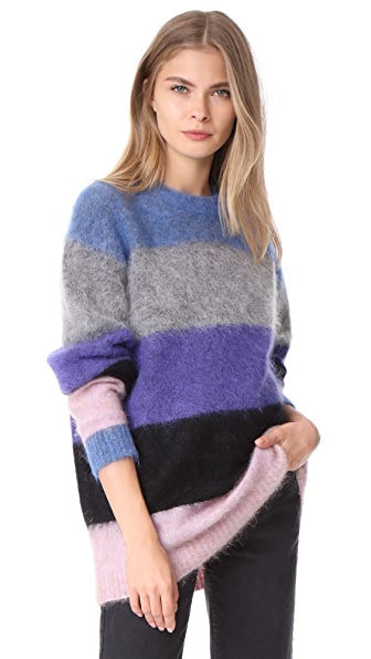 Acne Studios Albah Mohair Sweater - Multi Mix Stripe