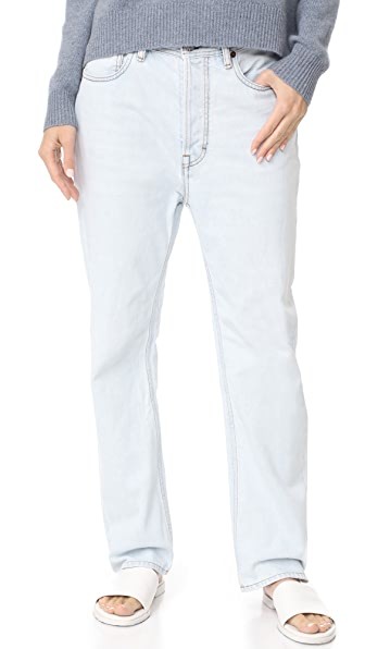 Acne Studios Log Light Jeans In Light Blue