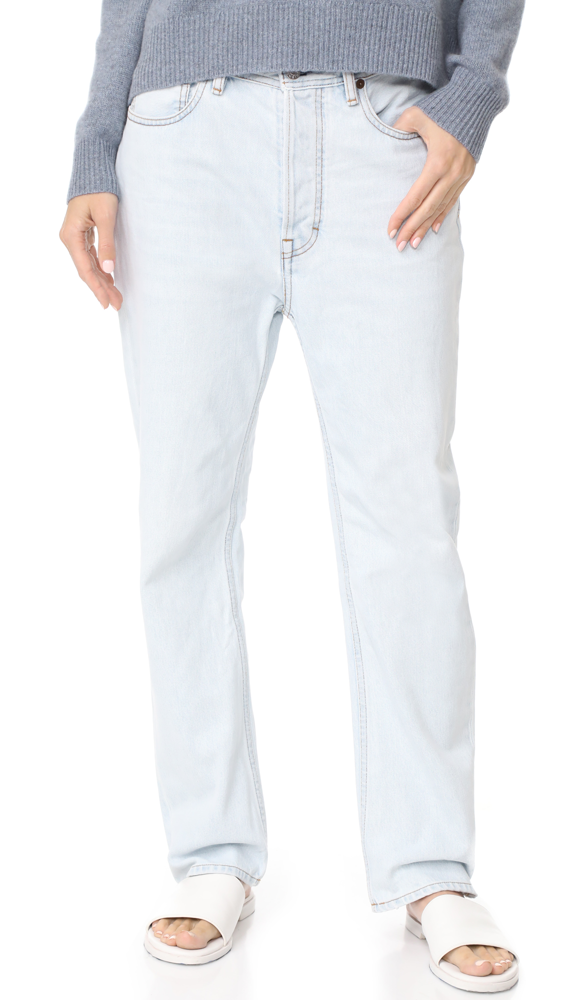 Acne Studios Log Light Jeans - Light Blue