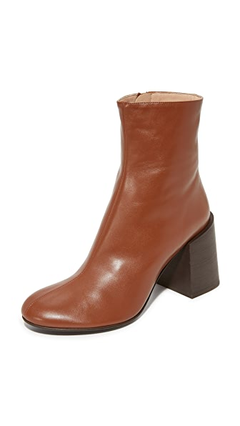 Acne Studios Saul Booties - Cognac Brown