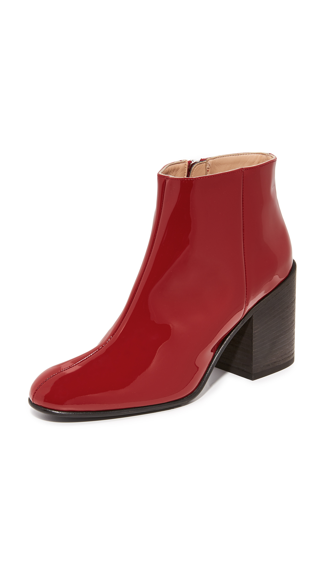 Acne Studios Beth Alu Booties - Dark Red