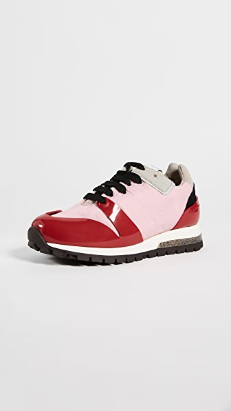 Acne Studios Joriko Sneakers - Pale Pink/Red