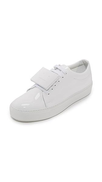 Acne Studios Adriana Patent Sneakers - White/White