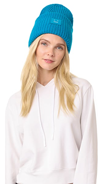 Acne Studios Pansy with Face Hat In Turquoise