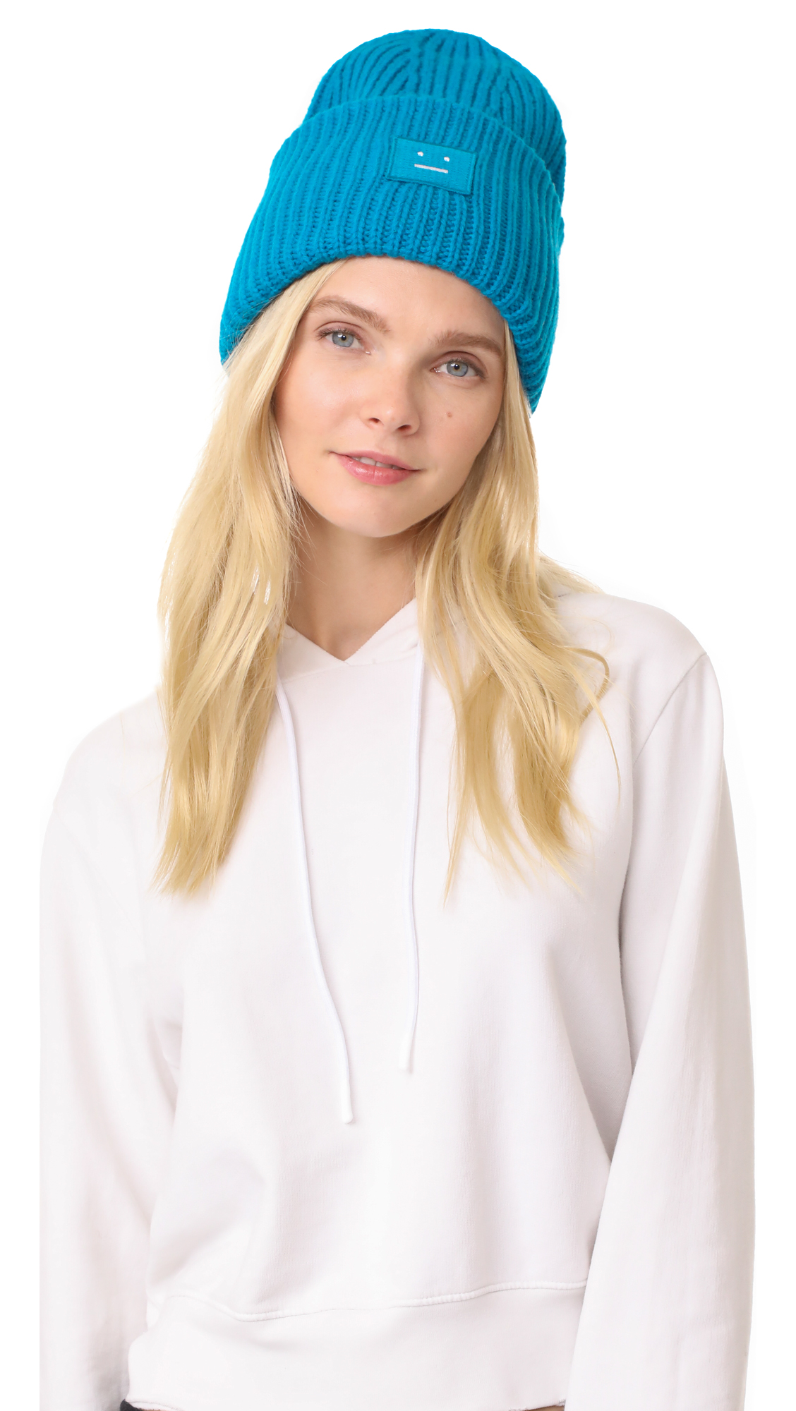 Acne Studios Pansy with Face Hat - Turquoise