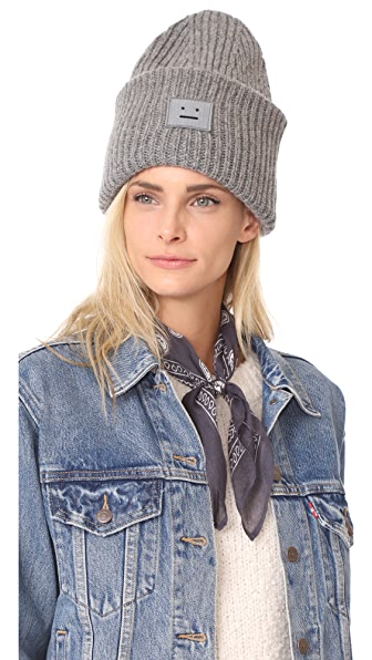 Acne Studios Pansy with Face Hat In Steel Grey