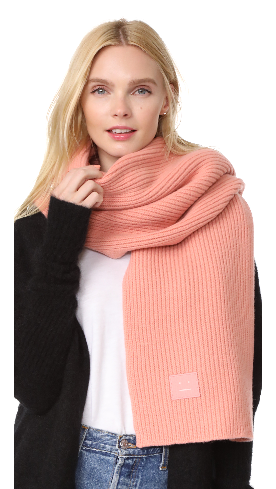 Acne Studios Bansy L Face Scarf - Pale Pink