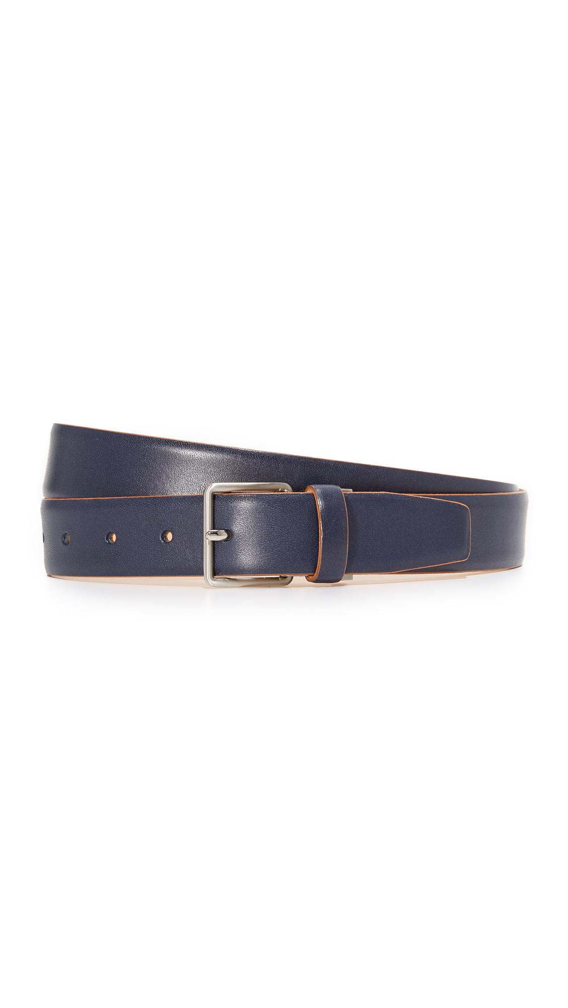 Acne Studios Aryx Leather Belt - Navy