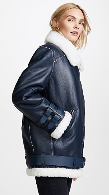 Acne Studios Velocite Leather Jacket
