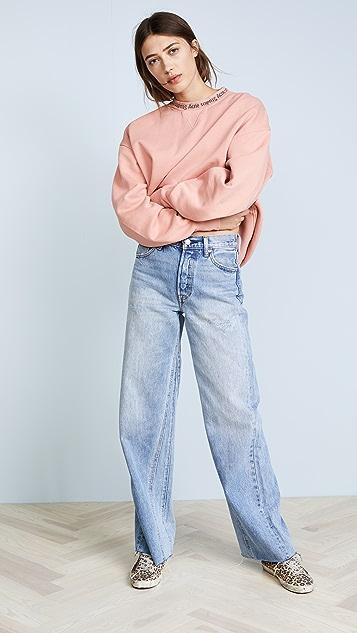 Acne Studios Yana Rib Pullover Sweatshirt