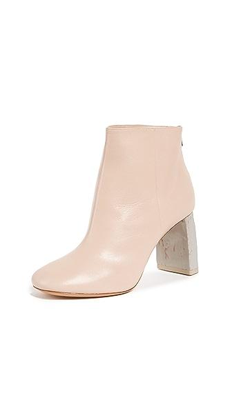 Acne Studios Claudine High Heel Booties In Pink/Grey