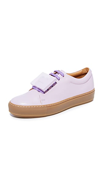 Acne Studios Adriana Turnup Sneakers - Lilac/Beige