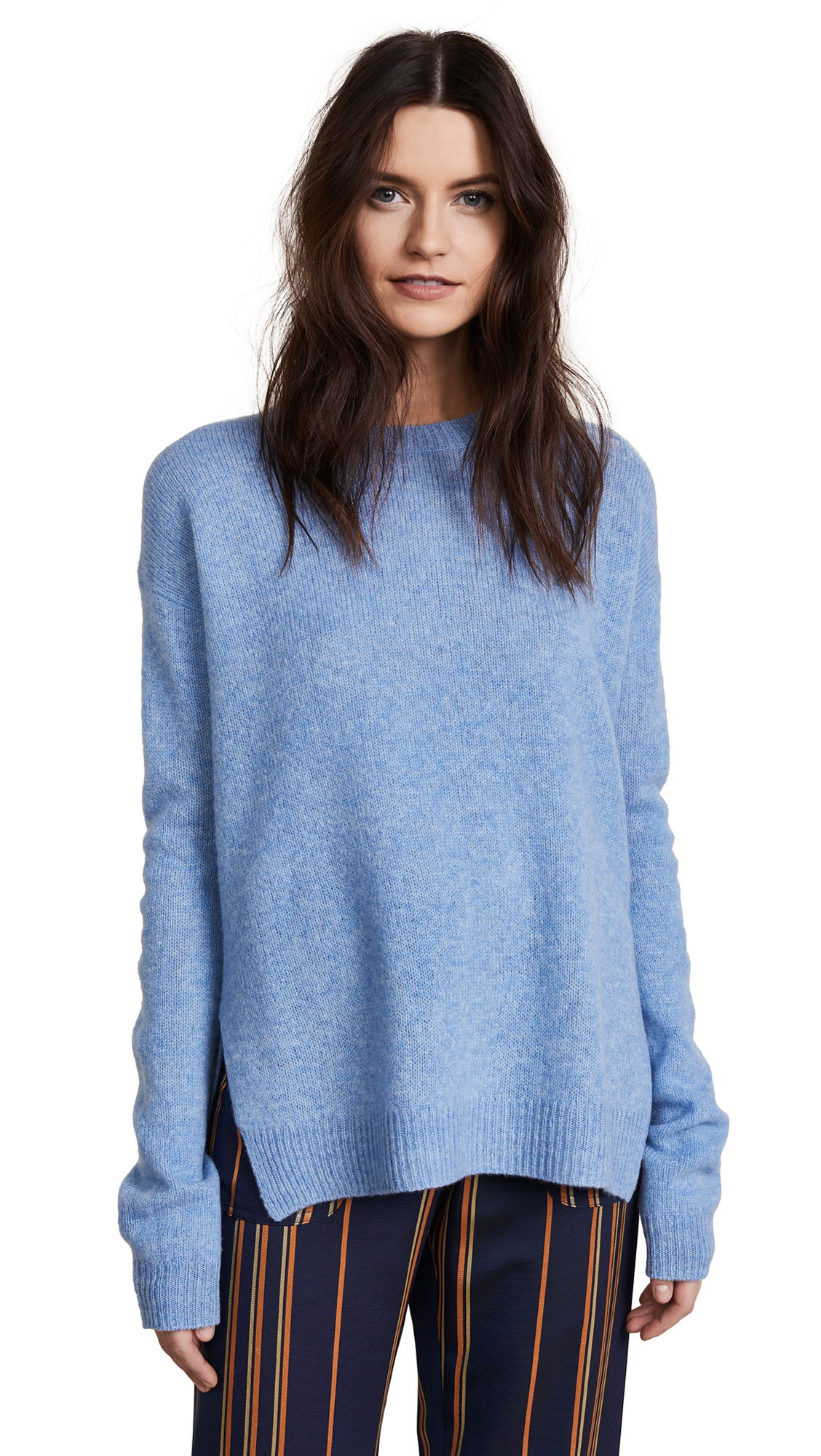 Acne Studios Deniz Wool Sweater - Light Blue Melange