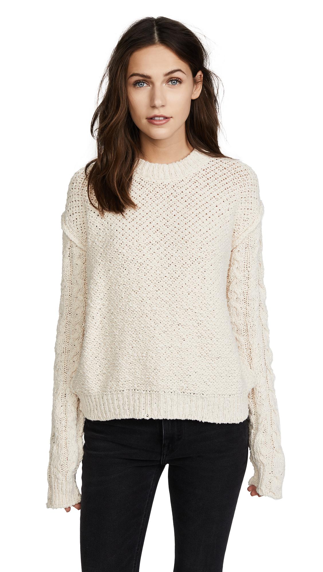 Acne Studios Hila Cable Sweater - Off White