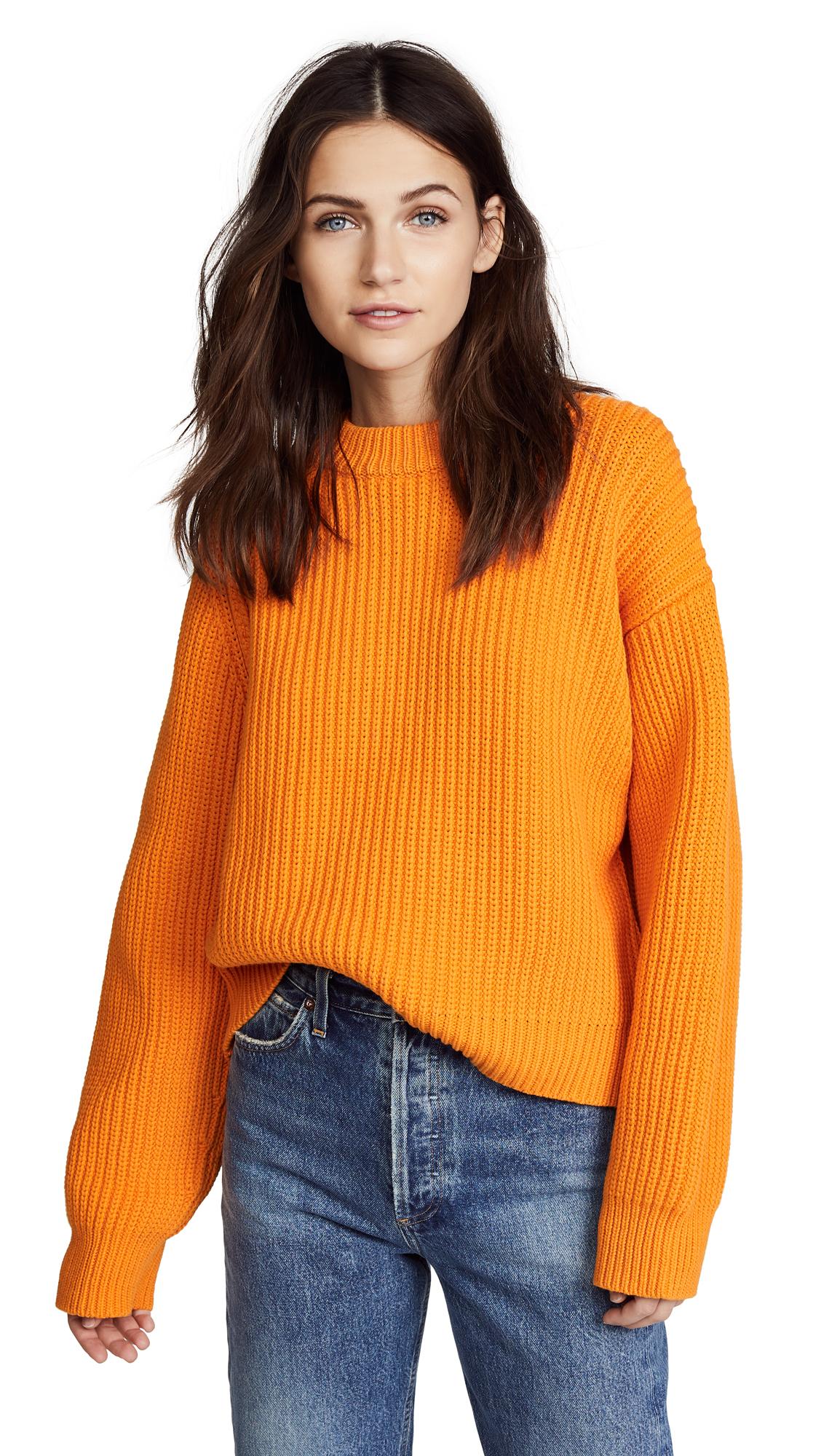 Acne Studios Penina Chunky Sweater - Bright Orange
