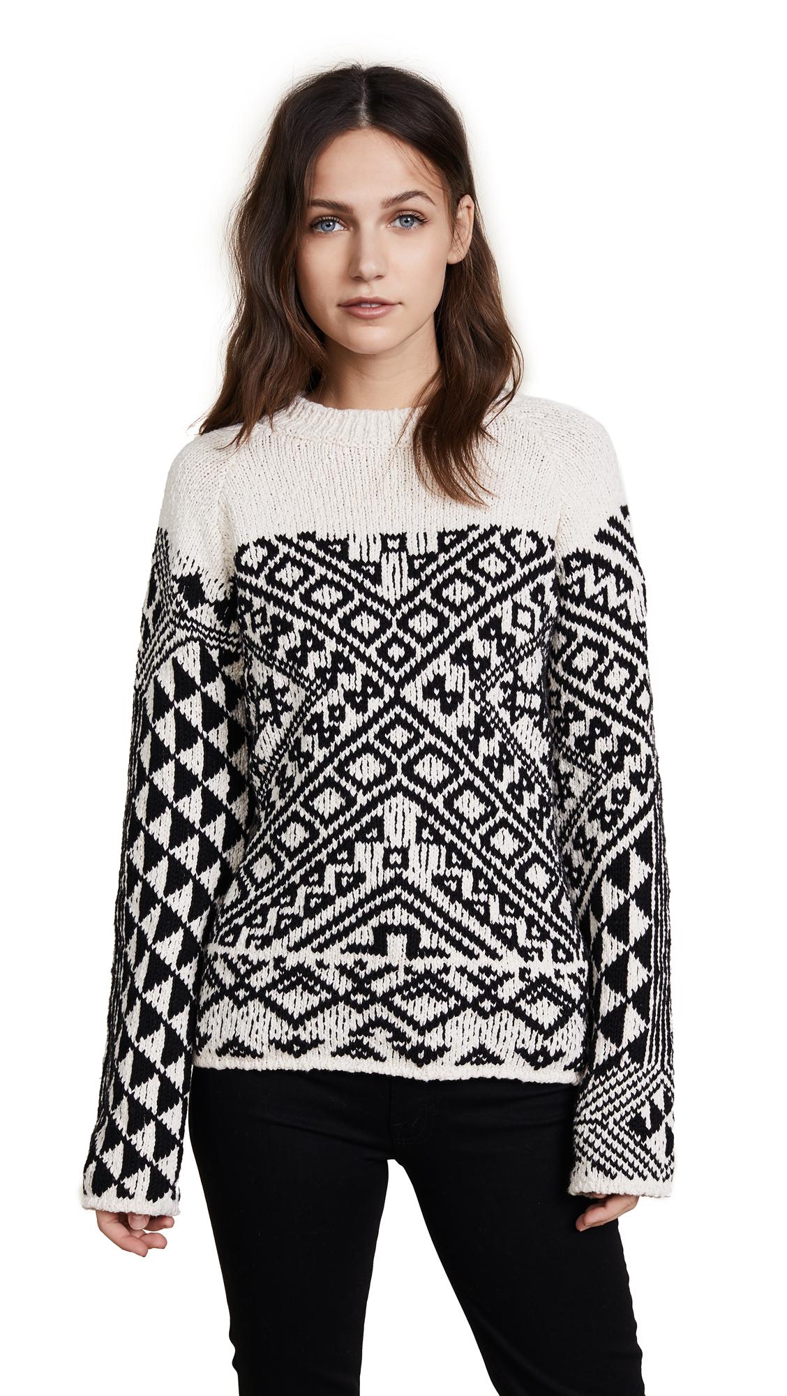 Acne Studios Rhia Sweater - Off White/Black