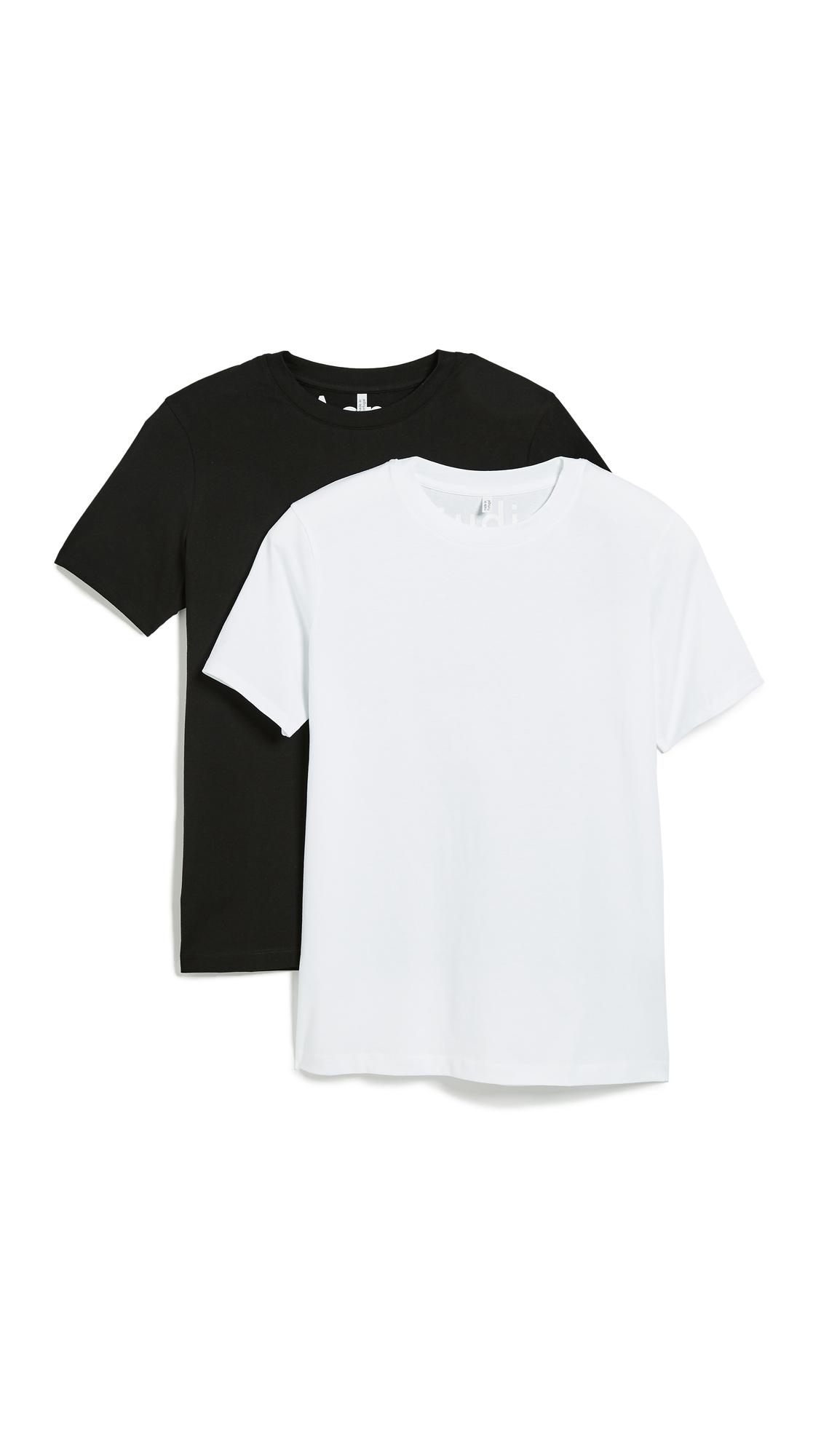 Acne Studios Taline Tee 2 Pack - Optic White/Black