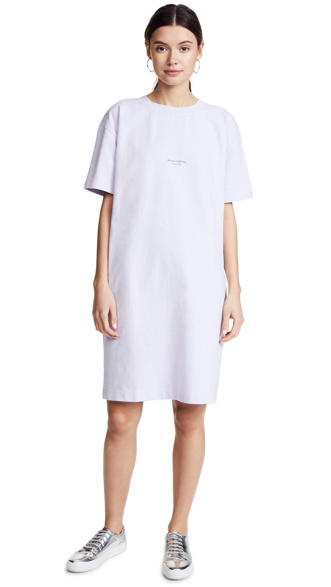 Acne Studios Jopa Tee Dress - Chalk Lilac