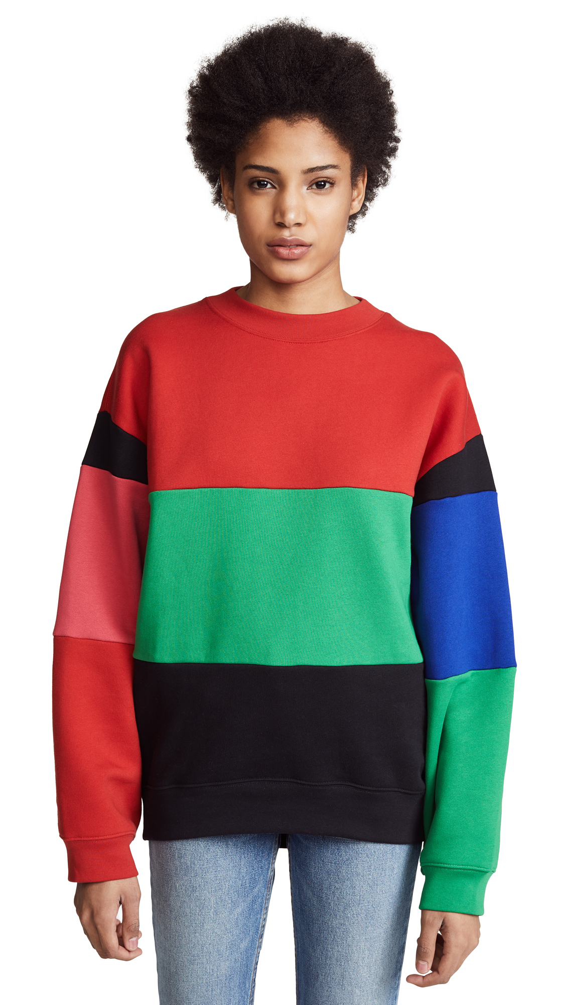 Acne Studios Fate Sweatshirt - Red/Green/Black/Blue/Pink