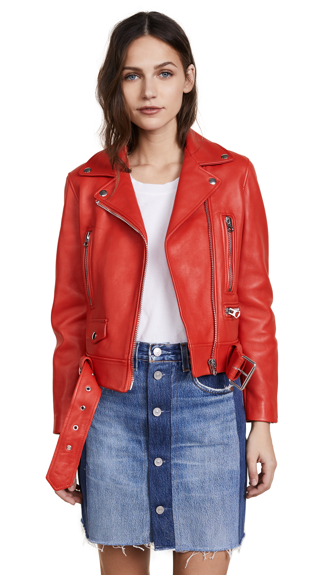 Acne Studios Leather Jacket - Red