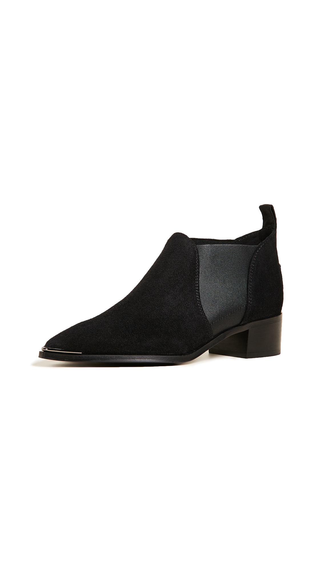 Acne Studios Jenny Suede Booties - Black