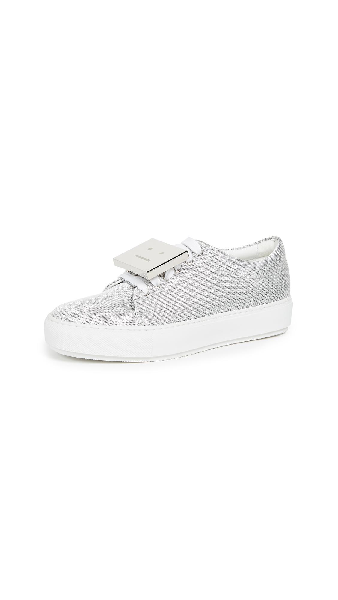 Acne Studios Adriana Mesh Sneakers - Silver