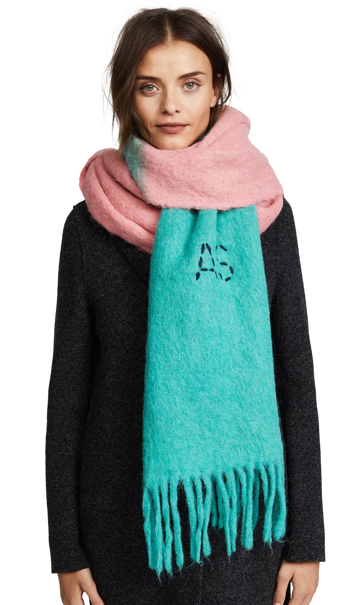 Acne Studios Kelowna Dye Scarf - Pink/Mint